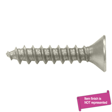 Deltana Chrome, Satin Wood Screw Product Number: SCWS1010U26D