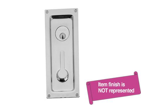 High Quality Baldwin Hardware Nickel, Antique Sliding Door Lock Product Number: 8595.151