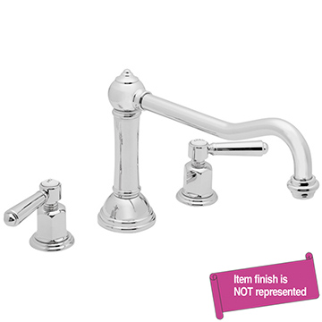 California Faucet Nickel, Satin Tub Filler Product Number: TO-3308-SN