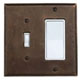 Ashley Norton Bronze, Oil Rubbed Switchplate Product Number: BZSQ.TD11