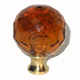 Cal Crystal Amber Cabinet Knob Product Number: M30 AMBER-US26