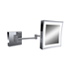Baci Nickel, Satin Magnifying Mirror Product Number: E22-LED-HW SATIN NICKEL