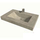 Cement Elegance Brown Lavatory Sink Product Number: HALF BARREL